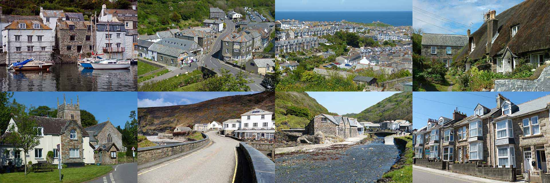 Collage of images of properties in Cornwall